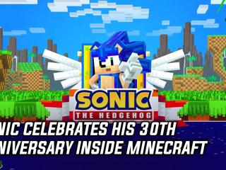 Sonic celebrates his 30th Anniversary inside Minecraft