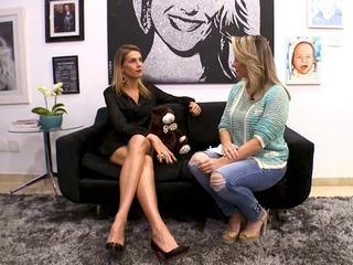 Gaida Dias conversa com a apresentadora Ana Hickmann